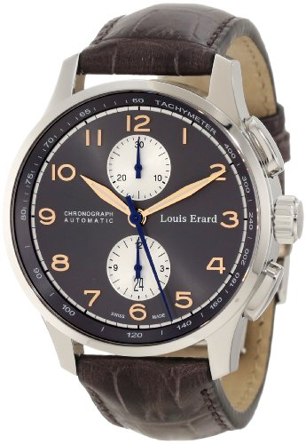 Louis Erard Men's 73228AA03.BDC54 1931 Automatic Grey Leather Chronograph Watch