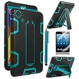 iPad Mini Case, iPad Mini 2/ 3 Case - ULAK 3in1 Hybrid Shockproof Kickstand Case For iPad Mini/ iPad Mini 2/ iPad Mini 3 (Aqua Blue/Black)