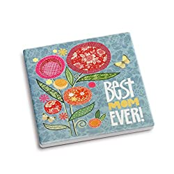 DEMDACO Best Mom Coaster and Greeting Card, Multicolor