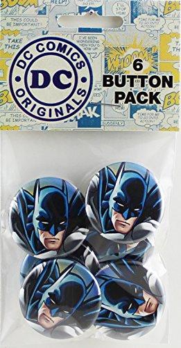 Button set DC Comics Batman Close-up Button (6-Piece), 1.25