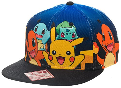bioworld-pokemon-the-original-starters-blue-gradient-snapback-cap