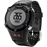 Garmin Approach S2 GPS Golf Watch with Worldwide Courses (Black) (Certified Refurbished)