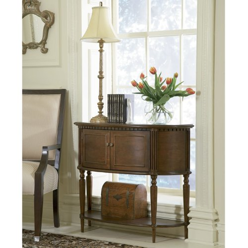 Cheap Powell Warm Cherry Demilune Console Table (429-660)