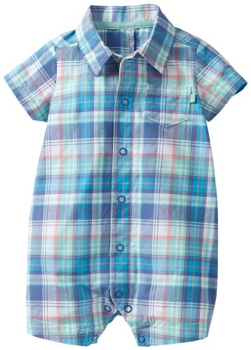 Carter'S Baby Boys' Plaid Romper (Baby) - Blue - 3 Months front-173797