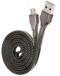 Chevron Dual USB to Micro USB Charge & Sync Data Cable With Phone to Phone Charging Function (Snake Black)