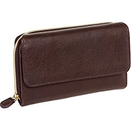 Mundi Womens My Big Fat Clutch Wallet w/ Calculator (Tan)