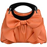FASH Large Bowknot Ruffle Office Purse Style Satchel