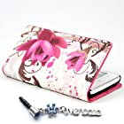 ivencase Wallet Flower 26 Leather Stand Case Cover for Huawei Ascend G510 U8951 + One phone sticker + One ivencase Anti-dust Plug Stopper