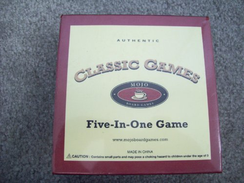 Mojo Classic Games Board Games (Five-In-One)