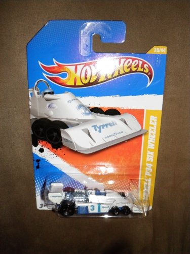 Hot Wheels 2010-39/240 New Models 39/44 WHITE Tyrrell P34 Six Wheeler 1:64 Scale - 1