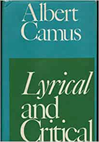 albert camus lyrical essays