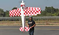Giant Scale 3D 4 CH BlitzRCWorks 2.4GHz Pitts Hybrid 3D BiPlane Radio Remote Control Electric RC Airplane RTF w/ Extreme 3D Performance Out Of The Box! by BANANA