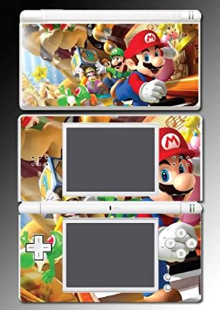 New Super Mario Bros Party Game Vinyl Decal Game Skin Protector Cover 8 Nintendo DS Lite