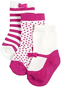 kate spade york Baby Girls' 3 Pack Sock Set (Baby)