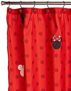 Disney Mickey and Minnie Fabric Shower Curtain