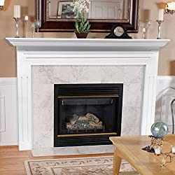 Pearl Mantels 510-48 Newport 48-Inch Fireplace Mantel Surround with Medium Density Fiberboard, White from Pearl Mantels, Inc.