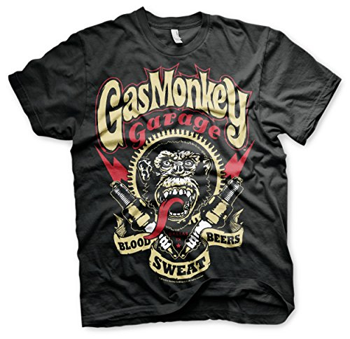 Gas Monkey Garage Spark Plugs For Speed Freaks T-Shirt (Large)