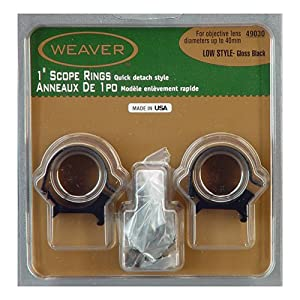 Weaver Detachable  Inch Low Top Mount Rings