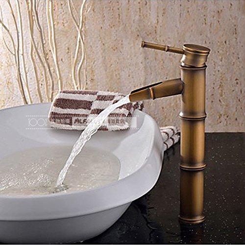 Modern fashion bathroom sink faucet Heightening bronze bamboo-like wash basin faucet
