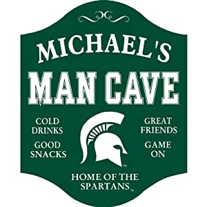 Personalized Michigan State Man Cave Sign