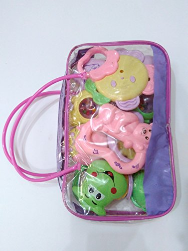 Smt Rattle,Sweet Cuddle Infants,Rattle, Jhunjhuna New Born Toys Set Of 7 Pec (Multicolor)