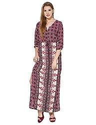 Folklore Women's Dress (FOJ6000157_Multicolor_Medium)