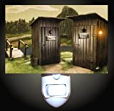 His and Hers Outhouse Decorative Night Light