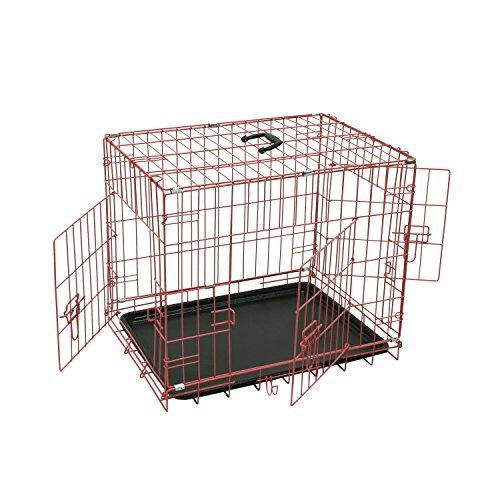 Aleko Wire Mesh 36 Inch 3 Doors Folding Suitcase Dog Cat