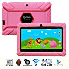 * Mother's Day Sale * Contixo 7 Inch Quad Core Android 4.4 Kids Tablet, HD Display 1024x600, 1GB RAM, 8GB Storage, Dual Cameras, Wi-Fi, Kids Place App & Google Play Store Pre-installed, 2015 May Edition, Kid-Proof Case (Pink)