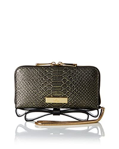 ZAC Zac Posen Women's Milla Iphone Wristlet, Gold Metallic Python