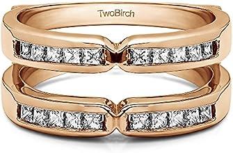 10k Gold X Design Jacket Ring Enhancer with Diamonds 076 ct twt