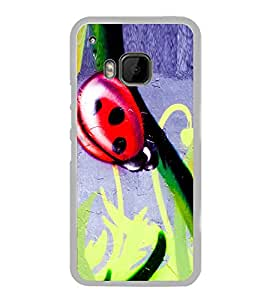 Red Beetle Painting 2D Hard Polycarbonate Designer Back Case Cover for HTC One M9 :: HTC One M9S :: HTC M9 :: HTC One Hima