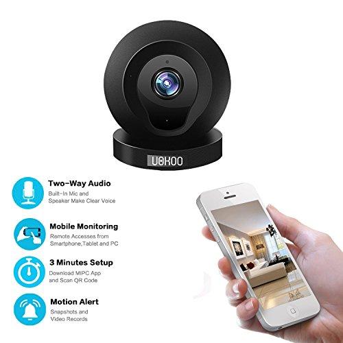 mini ip camera uokoo 720p wifi wireless network security surveillance video camera system pet. Black Bedroom Furniture Sets. Home Design Ideas