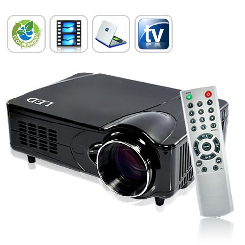 Black friday led multimedia projector hdmi vga av laptop for Best small hd projector