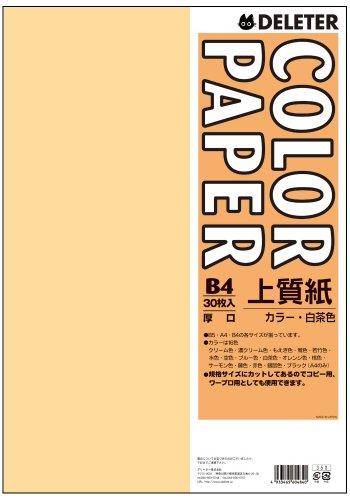 カラーペーパーB4厚口 30枚 白茶