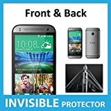 HTC One Mini 2 FULL Body INVISIBLE Screen Protector (Front & Back included) Military Grade Protection Exclusive to ACE CASE