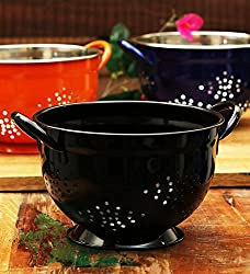 King International-Stainless steel Heavy Black Coloured Colander 11 cm