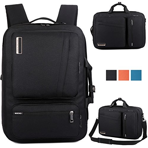 Brinch Laptop Backpack with Handle & Shoulder Strap for 10 to 17-Inch Macbook, Laptop, Notebook, Tablet PC, iPad, Ultrabook, Chromebook - Black