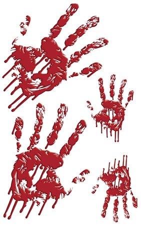 Bloody Handprints Wall Window Decals