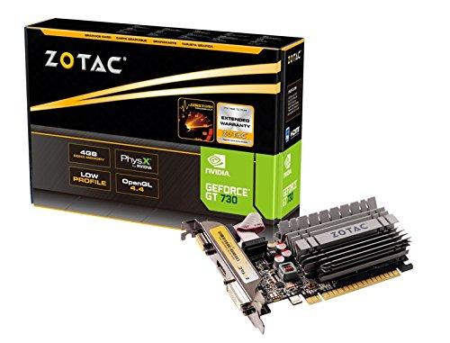 ZOTAC GeForce GT 730 Low Profile 4GB 64-Bit DDR3 PCI Express 2.0 x16 (x8 lanes) Graphics Card (ZT-71115-20L)