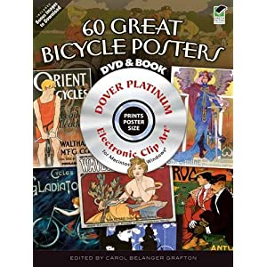 Vintage Bicycle Posters CD-ROM and Book (Dover Electronic Clip Art) Carol Belanger Grafton
