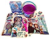 Disney Frozen Princess Elsa & Anna Small 5 Bucket of Fun Set Perfect for Birthday Gift, Get Well, Easter Basket, or any other Special Occassion