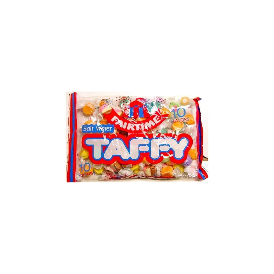 Fairtime (SUGAR) 10 Flavors Salt Water Taffy, 16 oz