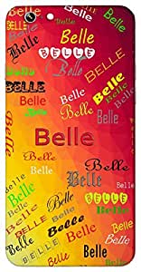 Belle (Beautiful) Name & Sign Printed All over customize & Personalized!! Protective back cover for your Smart Phone : Samsung Galaxy A-5