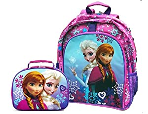 Disney Frozen Girls Backpack and Lunch Box Set - Purple by Disney