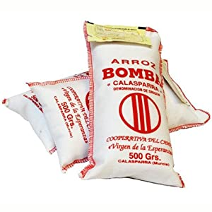 Bomba Paella Rice DOP 500 Gram Bag (1.1 Pound)