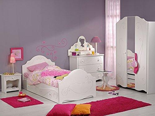 Kinderzimmer Anne 1, 7-tlg. weiß lackiert, Schrank Kinderbett Nachttisch Kommode online bestellen