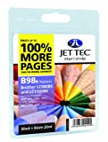 Jettec LC980 / LC1100 Black Brother Compatible Printer Ink Cartridge for Brother DCP 145C 163C 165C 167C 193C 195C 197C 365CN 373CW 375CW 377CW 6690CW MFC 250C 255CW 257CW 290C 295CN 297C