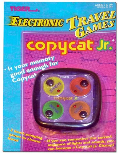 """Copycat Jr."" Electronic Handheld Game, Model 92-004, Tiger Electronics, 1996 - 1"