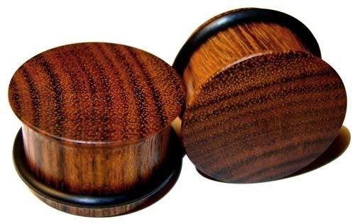 44mm Custom Chechen Single Flared Organic Wood Plugs